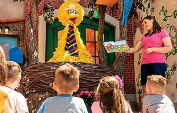 Storytime with Big Bird at Sesame Place San Diego