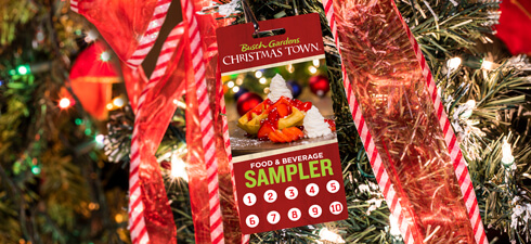 Food and Beverage Sampler for Christmas Town