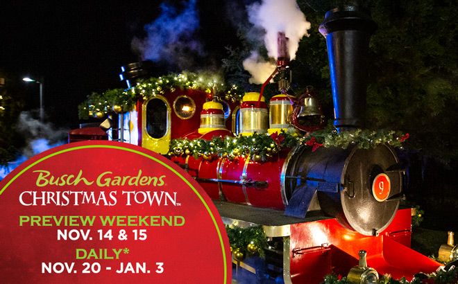 Christmas Town at Busch Gardens