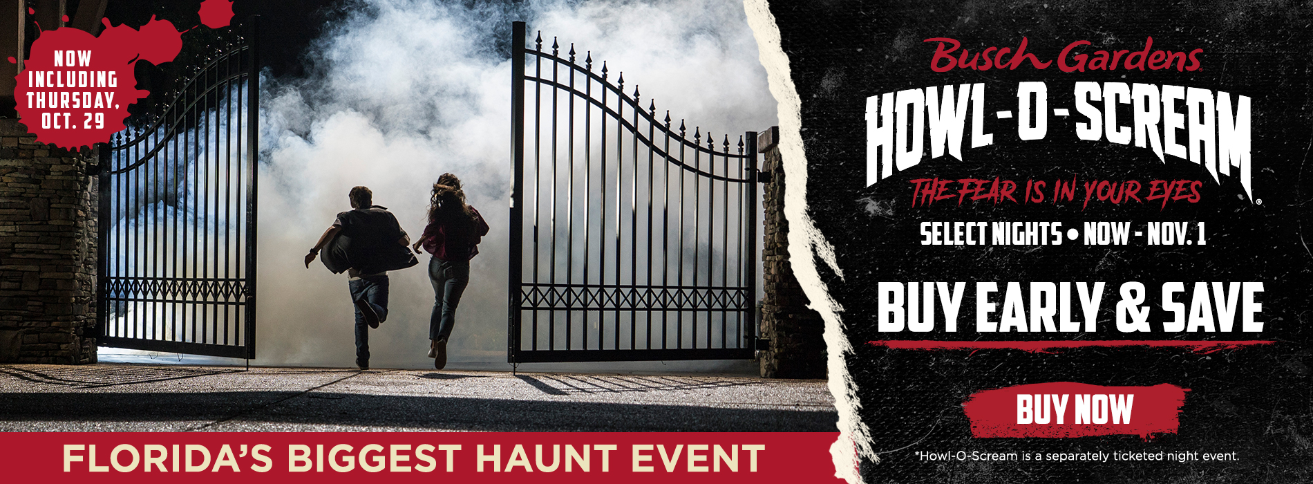 Buy Howl-O-Scream Tickets Early and Save.