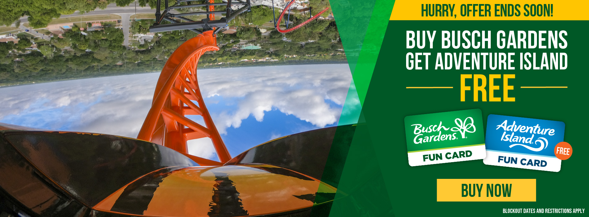 Buy Busch Gardens Get Adventure Island Free. Hurry Offer Ends Soon!
