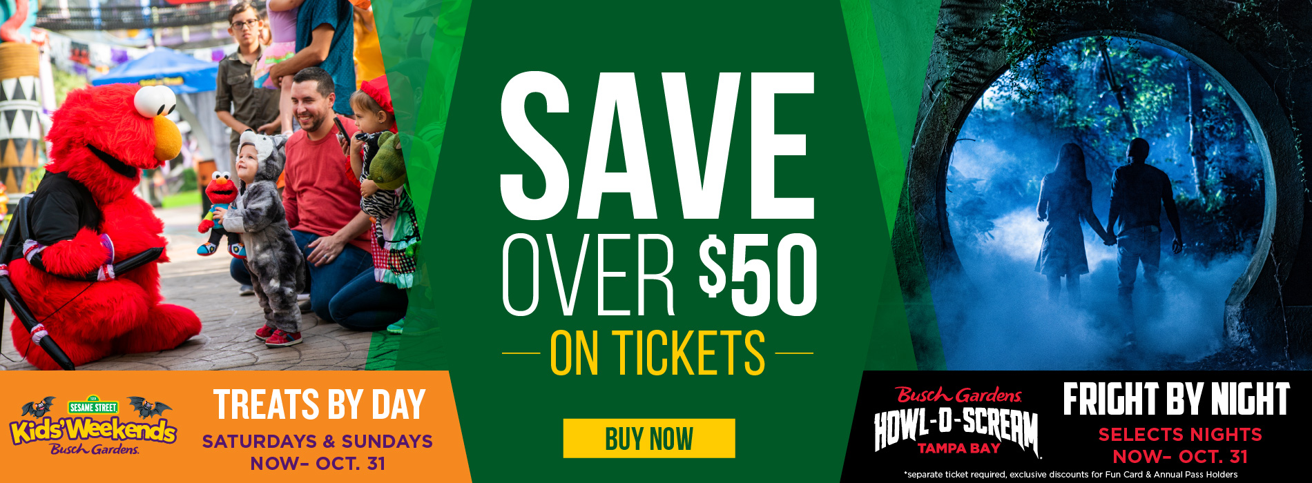 Save over $50 on tickets