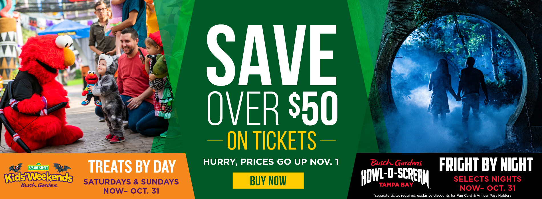 Save Over $50 On Tickets Hurry Prices Go Up November 1