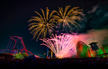 Fireworks from the Festival Field