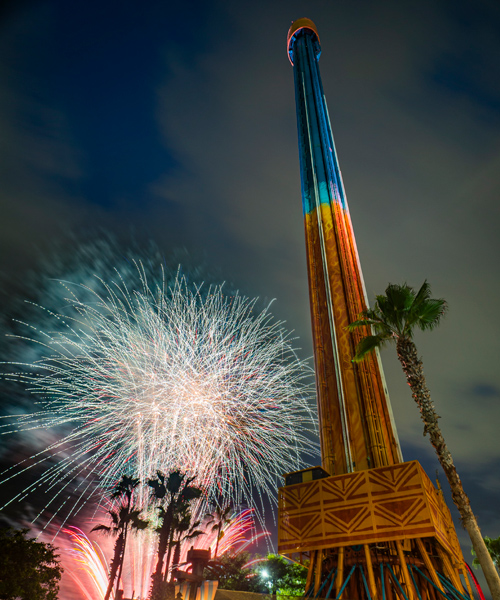 Fireworks with Falcon's Fury