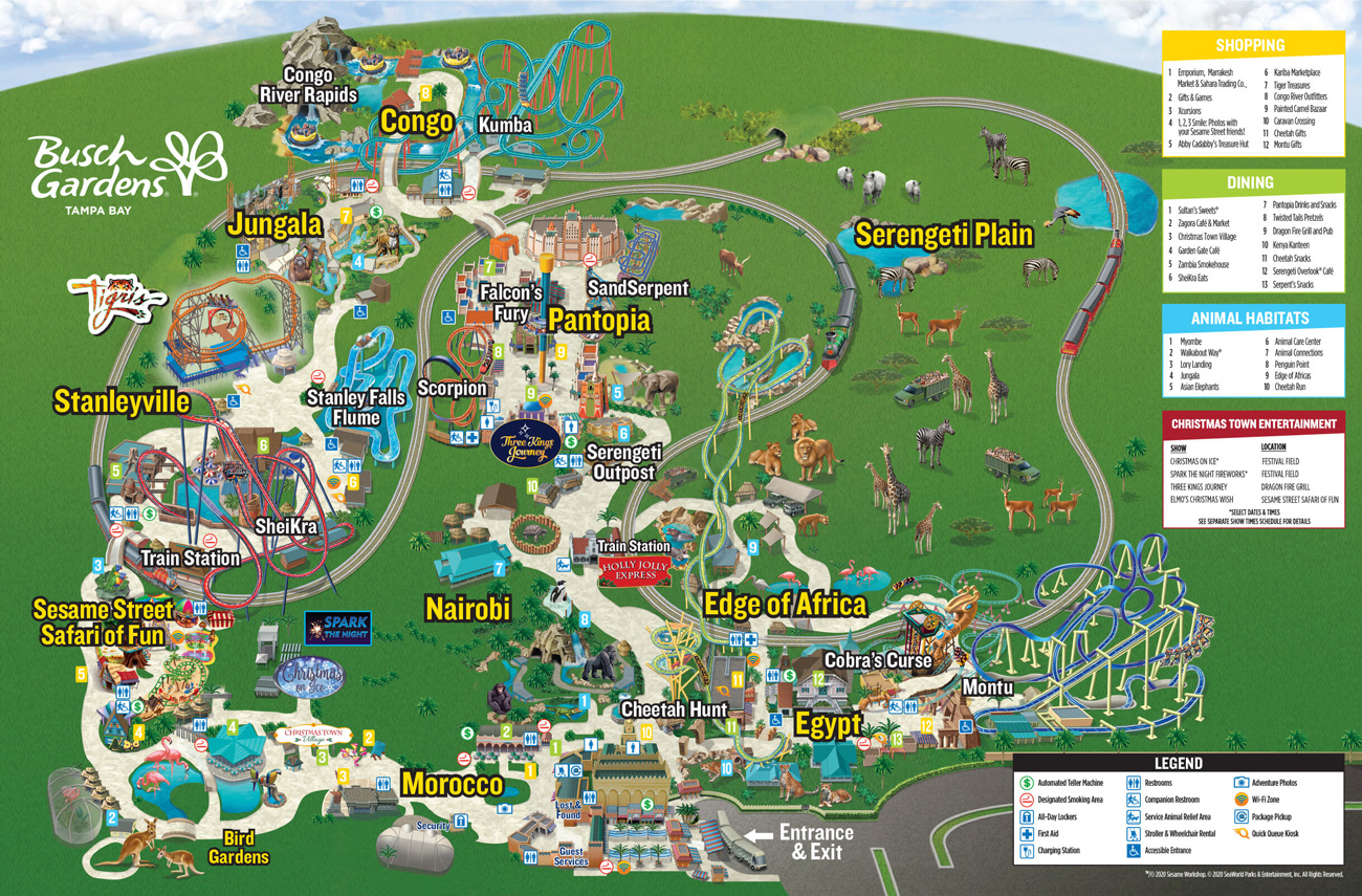 Christmas Town Map