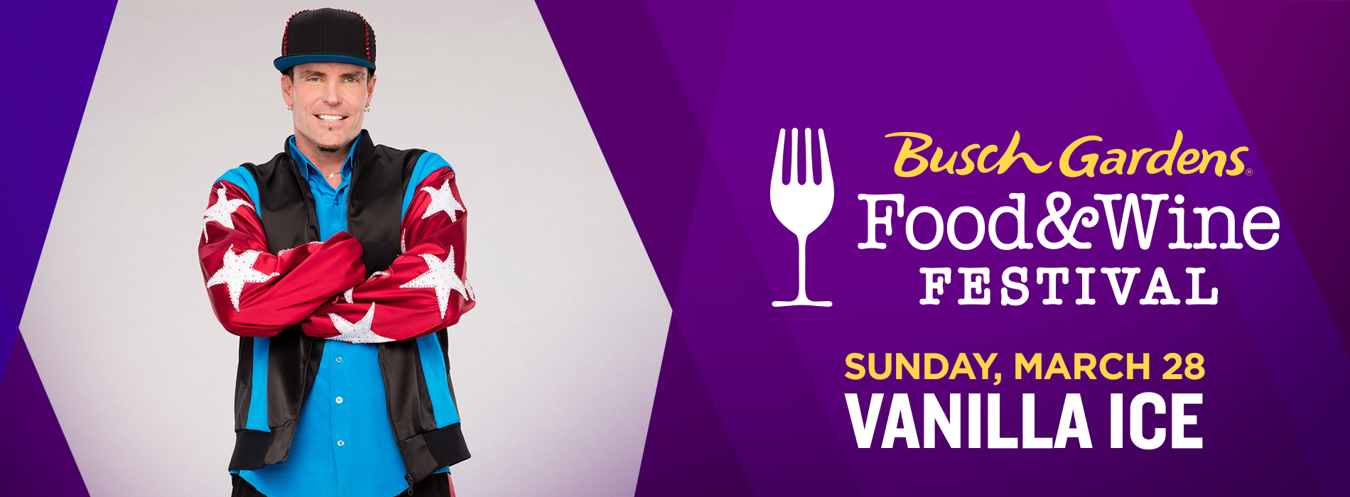 Vanilla Ice at Busch Gardens Tampa Bay Food & Wine Festival | Sunday, March 28