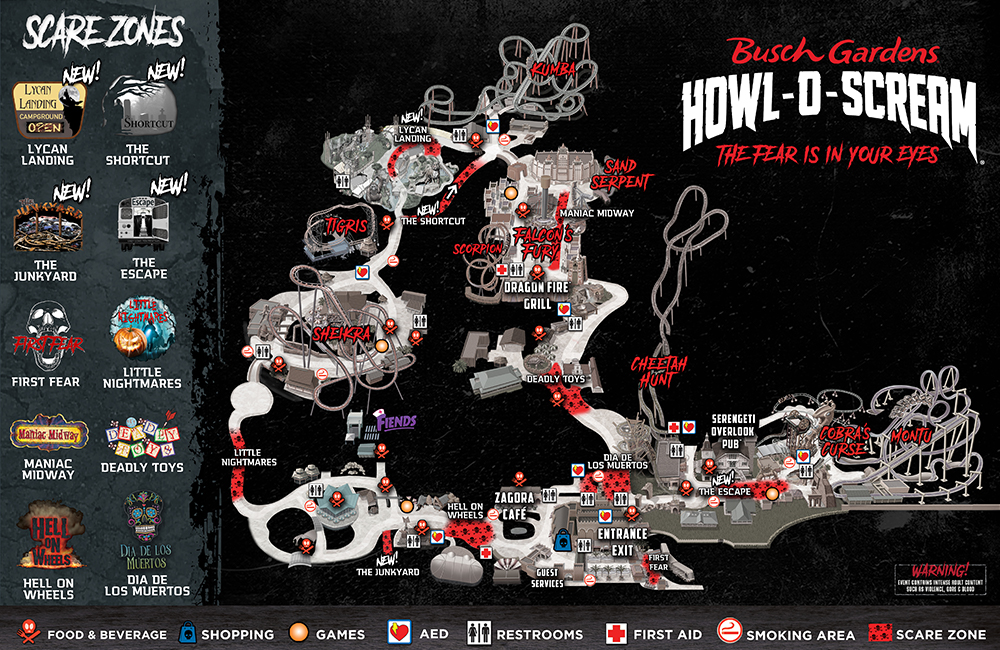 Howl-O-Scream Map
