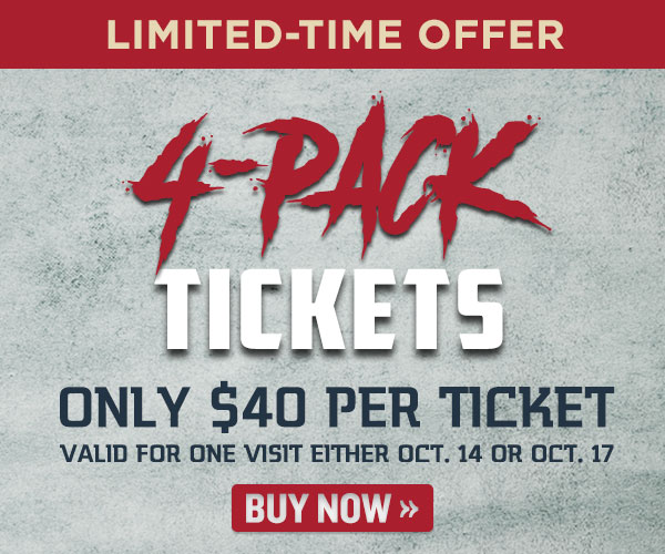4-Pack of Howl-O-Scream Tickets Only $40