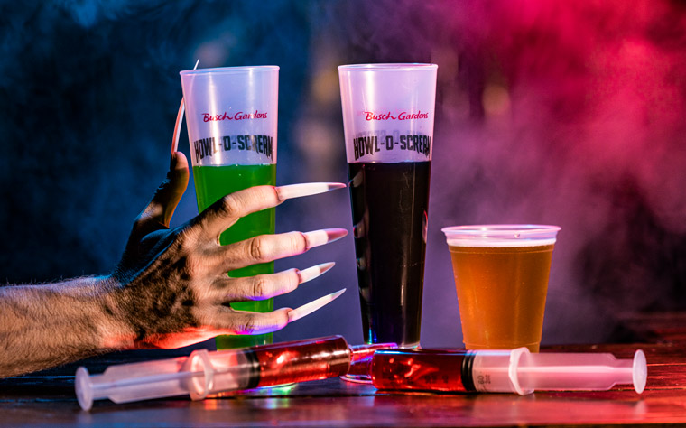 Drinks available at the all-new Blood Bar