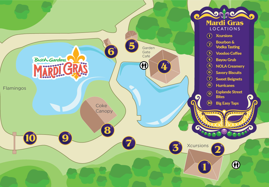 Mardi Gras Event Map