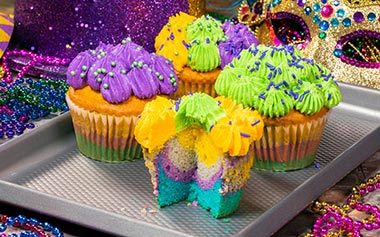 Cupcakes during Mardi Gras at Busch Gardens Tampa