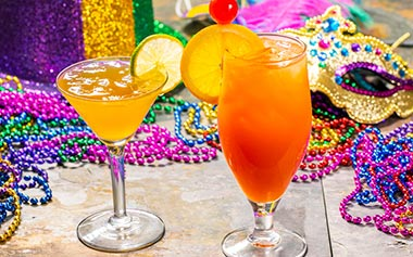 Hurricane Cocktails during Mardi Gras at Busch Gardens Tampa