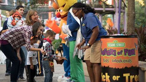 Trick-or-Treating at Busch Gardens