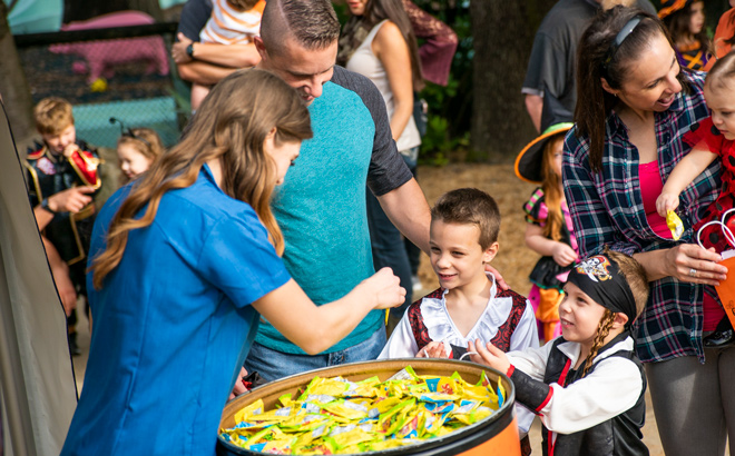 Trick or Treating at Busch Gardens