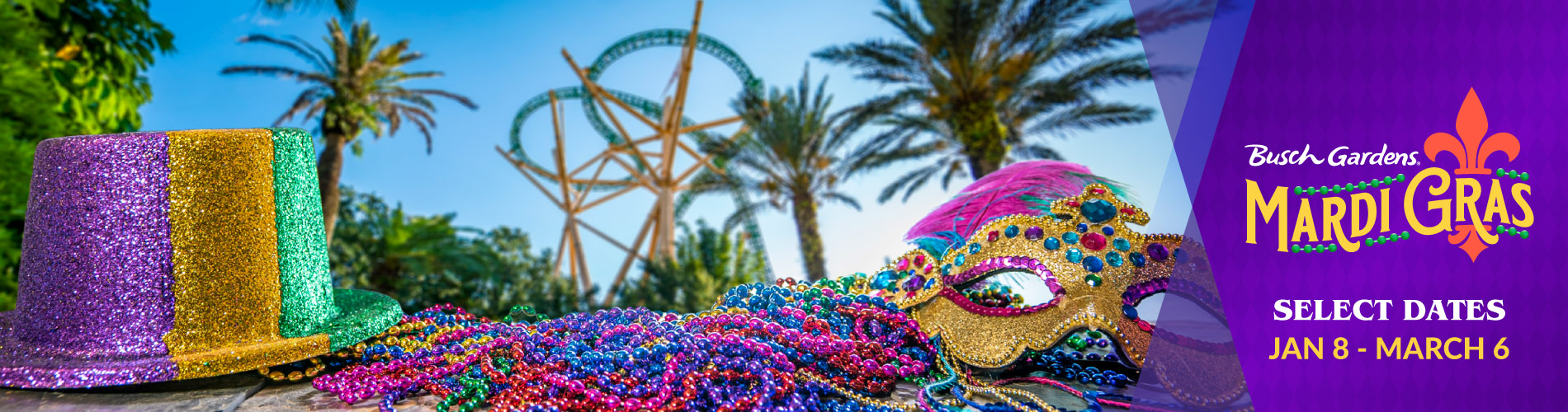 Busch Gardens Mardi Gras: Select Dates from Jan. 16 - Feb. 16
