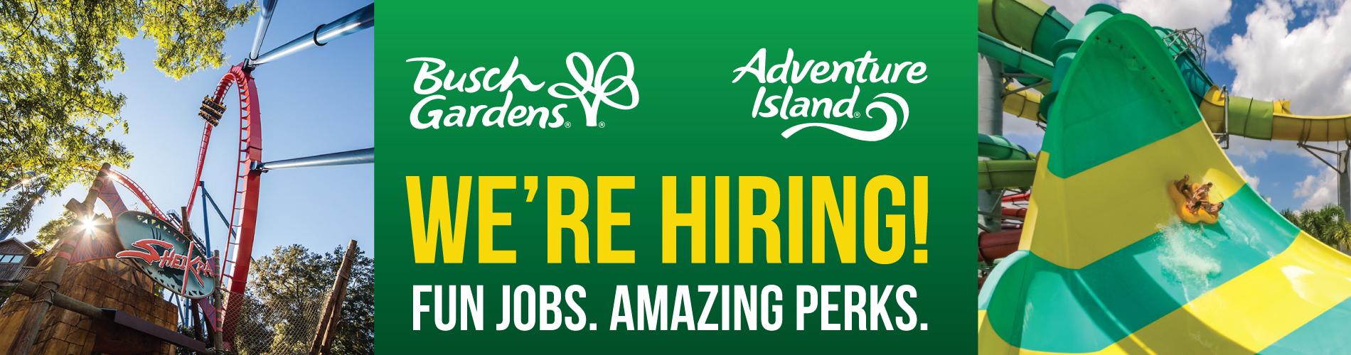 Busch Gardens Ride Operator and Adventure Island Lifeguard