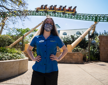Ride Operator in front of Cheetah Hunt