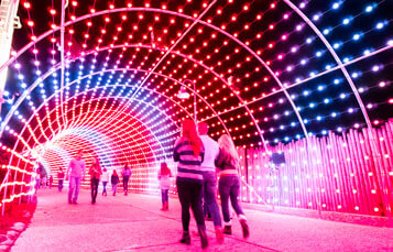 Light Tunnel at Luminosity Lane