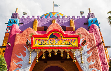 Dine at the Dragon Fire Grill at Busch Gardens Tampa Bay
