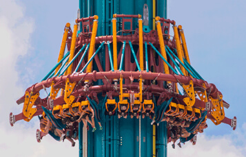 Ride Falcon's Fury at Busch Gardens Tampa Bay
