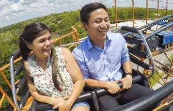 Ride the Sand Serpent at Busch Gardens Tampa Bay