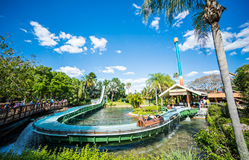 Ride the Stanley Falls Flume at Busch Gardens Tampa Bay