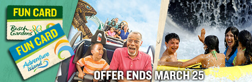 Busch Gardens Tampa Bay Adventure Island Tampa Bay buy one get one free BOGO fun pass