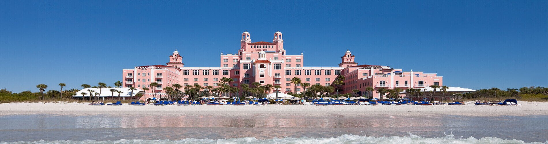 Don Cesar, a pink hotel located on the beach in Florida
