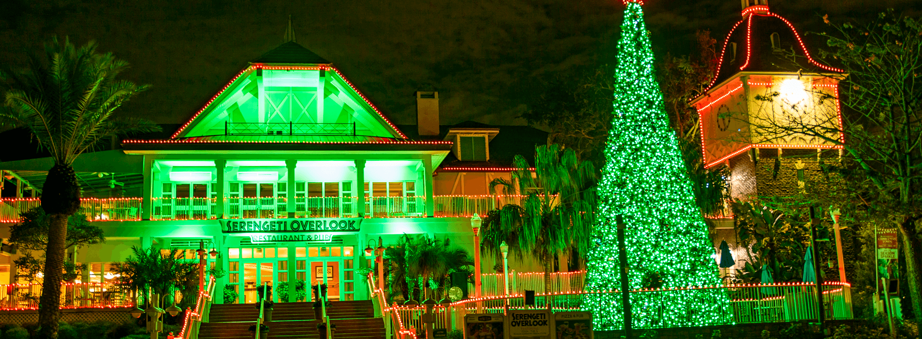 Serengeti Overlook Restaurant during Christmas Town Holiday Event