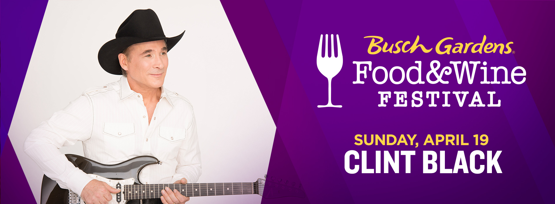 Clint Black at Busch Gardens on Sunday, April 19