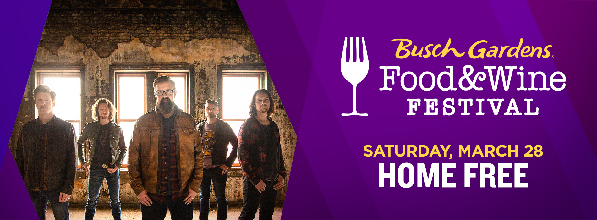 Home Free at Busch Gardens Tampa Bay on Saturday, March 28 for the Food and Wine Festival