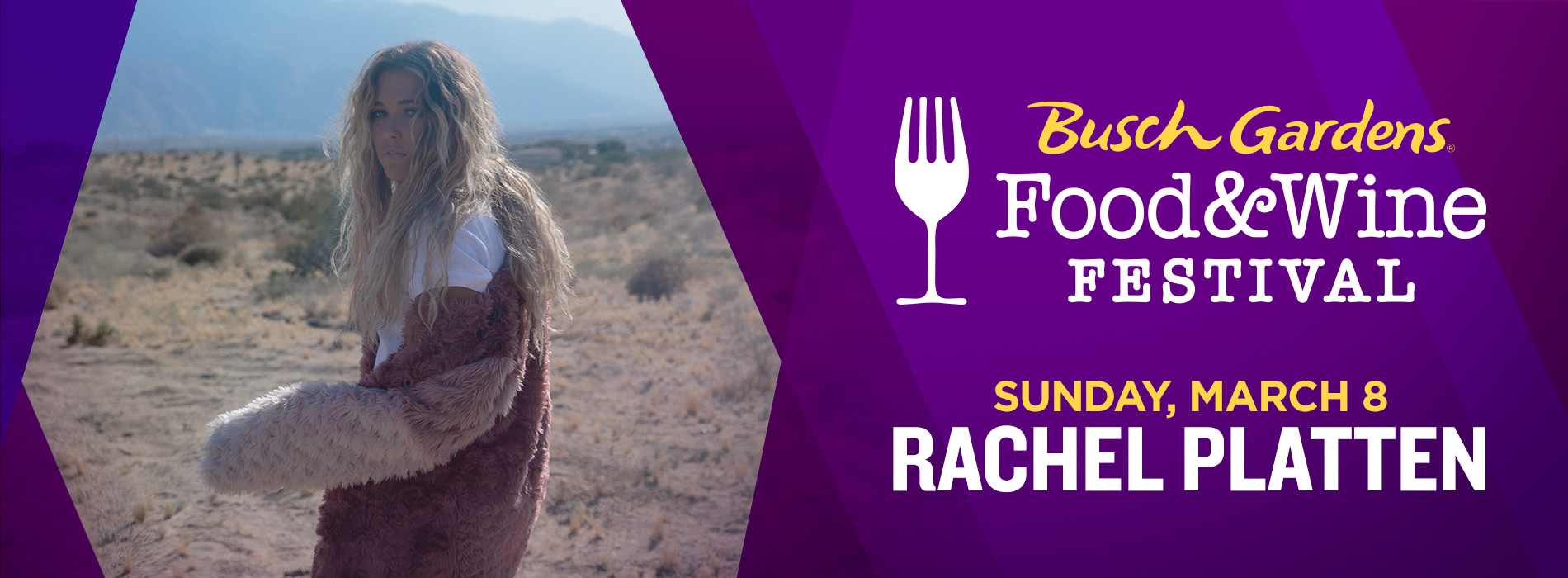 Rachel Platten at Busch Gardens Tampa Bay on Sunday, March 8 for the Food and Wine Festival