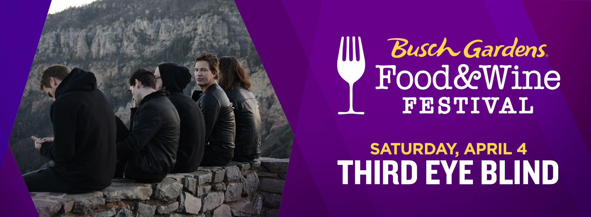 Third Eye Blind at Busch Gardens Tampa Bay's Food and Wine Festival on Saturday, April 4.