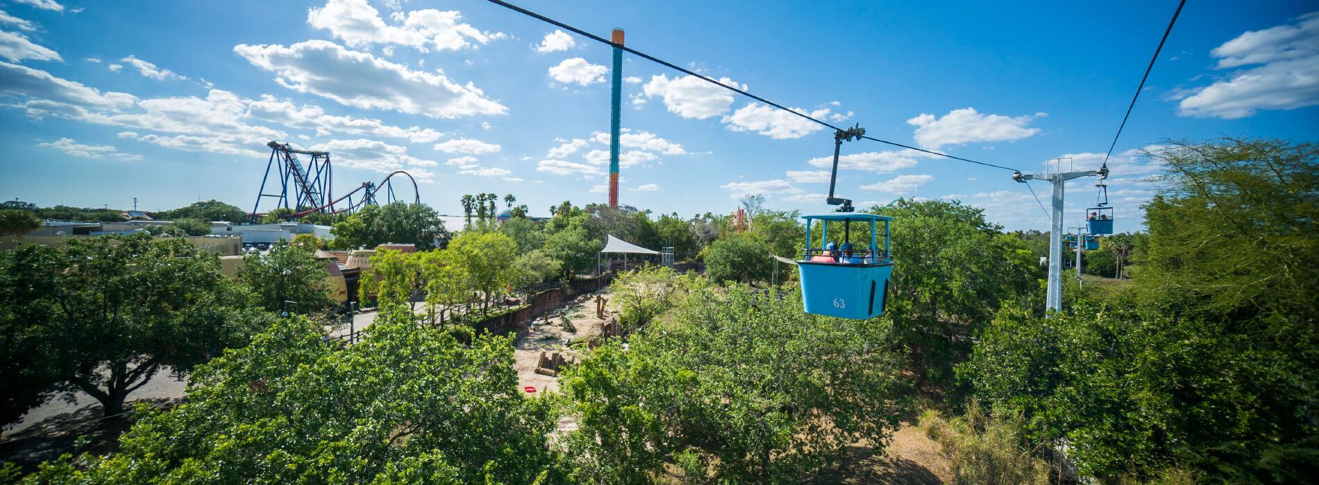 Skyride at Busch Gardens  Tampa Bay