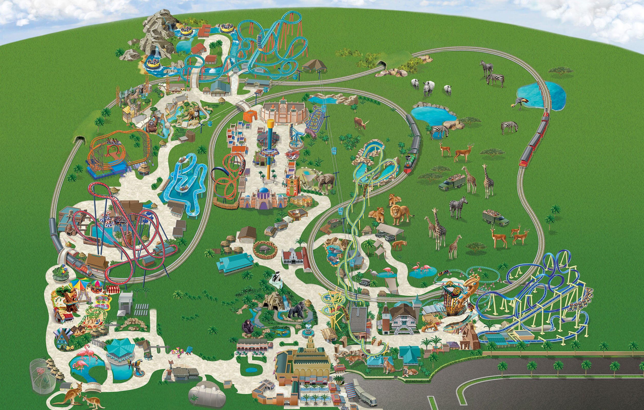 2019 buschgardenstampabay parkmap may clean 2510x1600 - Busch Gardens Summer Nights Schedule 2017