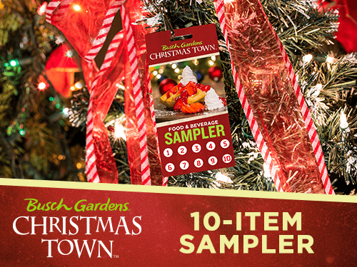 10-Item Food and Beverage Sampler for Busch Gardens Tampa Bay's Christmas Town