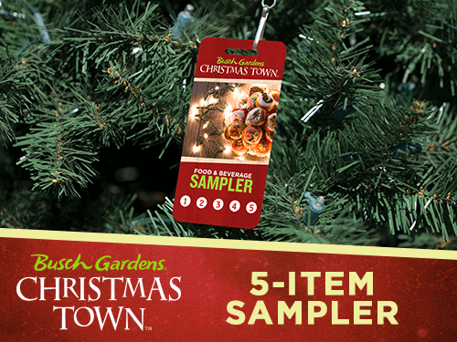 5-Item Food and Beverage Sampler for Busch Gardens Tampa Bay's Christmas Town