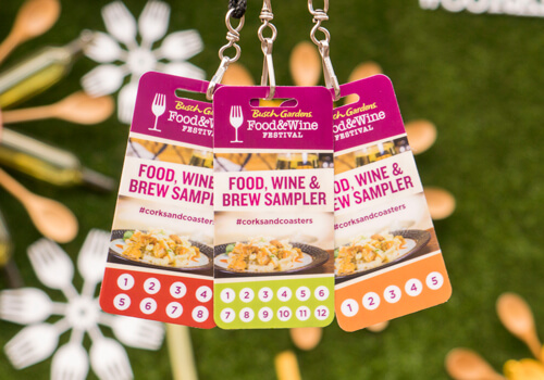 Sampler Lanyards for the Food & Wine Festival at Busch Gardens Tampa Bay