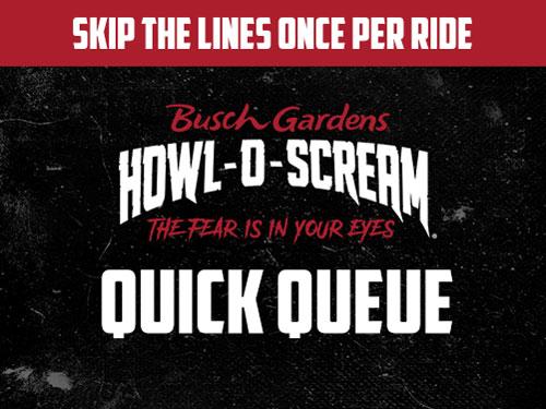 Quick Queue at Howl-O-Scream Busch Gardens Tampa Bay