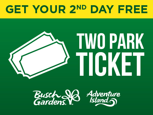 Get Your 2nd Day Free Two Park Tickets