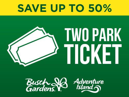 Save up to 50% Two Park Ticket