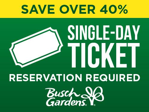 Busch Gardens Black Friday Sale Ticket