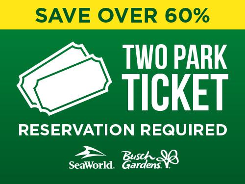 Busch Gardens Black Friday Sale Two Park Ticket