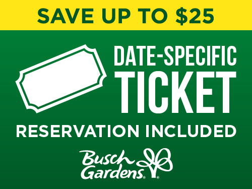 Save Up to $25 on a Date Specific Ticket at Busch Gardens Tampa Bay