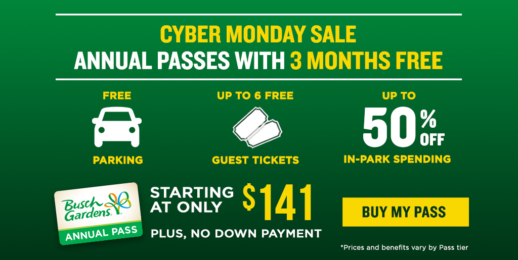 All-New Annual Passes with our Best Benefits Ever! Starting at only $11.50 per month