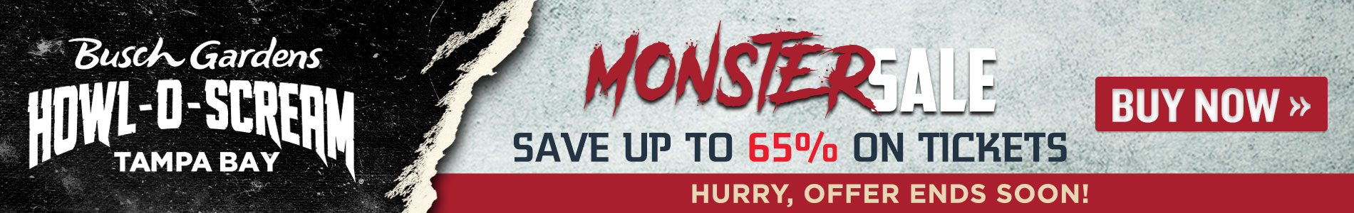 Monster Sale: Save Up to 65% on Howl-O-Scream Tickets