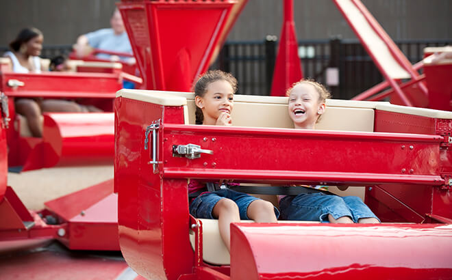 Our scrambler ride is great for parents and kids