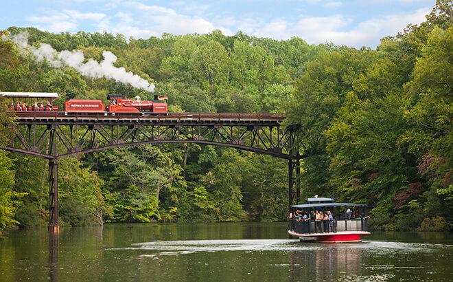 Rhine River Cruise and Busch Gardens Railway train