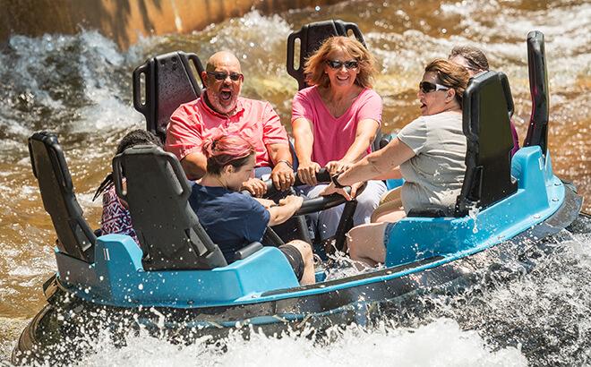 Water rides at Busch Gardens Williamsburg